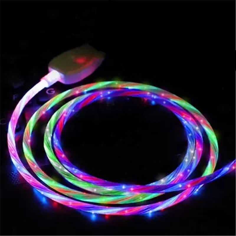 Hot Jual Cepat Pengisian 3A Lampu LED USB Tipe C USB-C Kabel Data Charger Kabel Usb untuk huawei Samsung S9 S8 Ponsel Pintar