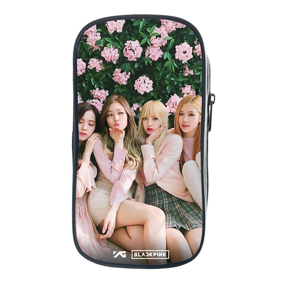 Blackpink Penbag Jisoo Stationery Bag Jennie Children Boys Girls Kids Pencil Bag Rose Fashion Kids Pencil Bag Lisa Pencil Case in Cosmetic Bags Cases from Luggage Bags
