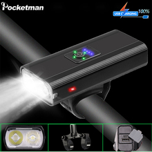 8000LM Bike Light USB Rechargeable Bicycle Light Waterproof 6 Modes Bicycle Front Light Bicycle Lamp Headlight Built-in Battery