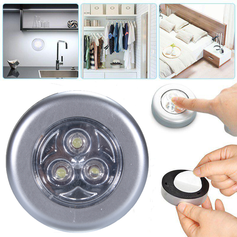 LED Under Cabinet Light With Adhesive Sticker Wireless Wall Lamp Wardrobe Cupboard Drawer Bedroom Kitchen Closet Night Light