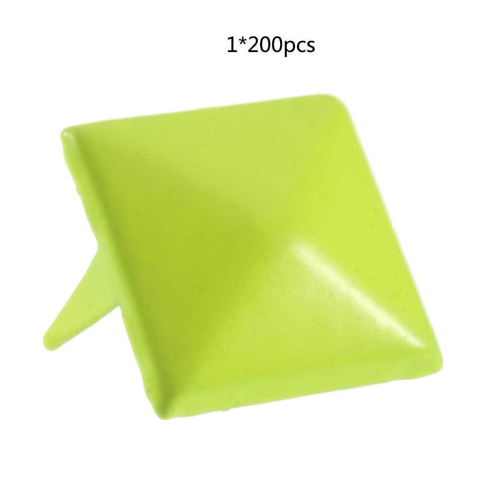 200 sztuk 12mm piramidowe ćwieki nit miejscu nikiel na torba w stylu punk pas Leathercraft profesjonalne mody piękne
