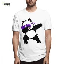 Panda Dabbing T-Shirt 2019 New Arrival For Men Top Design 100% Cotton Camiseta Male