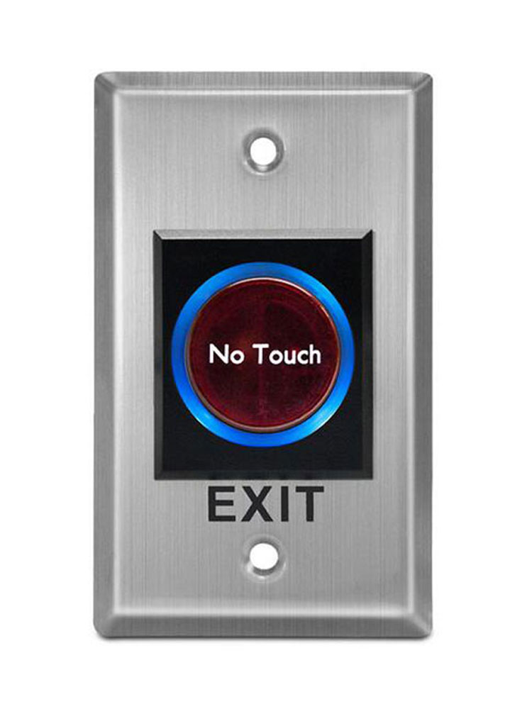 Infrared Exit Button,NO Touch Panel ,NO/NC/COM Output,86 X 50mm Blue Back Light Electric Box  Min:1pcs
