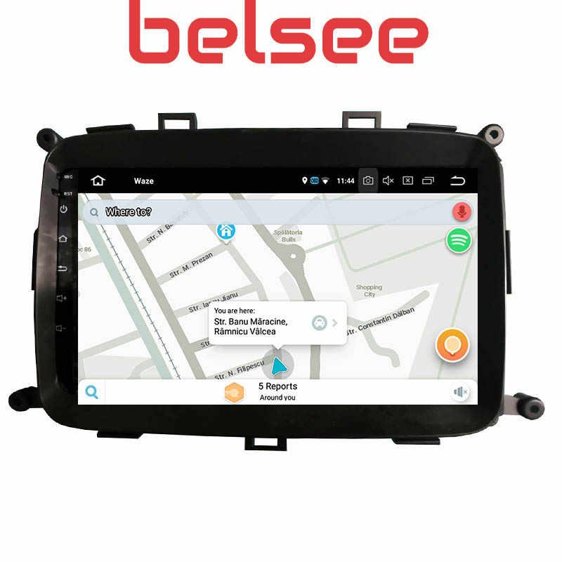 Belsee 9 inç dokunmatik ekran radyo Android 10 kafa ünitesi Octa çekirdek PX6 GPS araç DVD oynatıcı oynatıcı Navi Kia Carens 2013 2014 2015 2016 2017