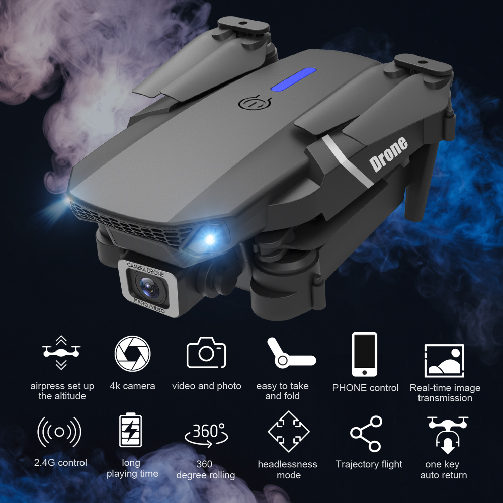 E525 PRO RC Quadcopter Profissional Obstacle Avoidance Drone Dual Camera 1080P 4K Fixed Height Mini Dron Helicopter Toy 2