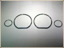 Cromado anéis de discagem de velocímetro, guarnição de moldura cromado anéis de tacho para vw golf mk3 (93-98) /vw jetta mk3/vento (93-99)