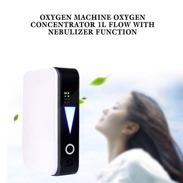Portable Oxygen Machine Oxygen Concentrator 1L Flow With Nebulizer Ventilator Sleep Function Oxygen Generator Maker