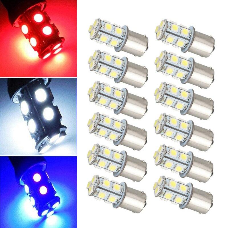 S25 1156 BA15S P21W 13SMD R5W R10W 1141 Автомобильная Поворотная сигнальная лампа стояночный тормоз светильник белого цвета-красный, желтый, задний фонарь д...