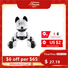 Children Funny Voice Control Smart Robot Dog Kids Toy Intelligent Talking Robot Dog Toy Electronic Pet Birthday Gift(China)