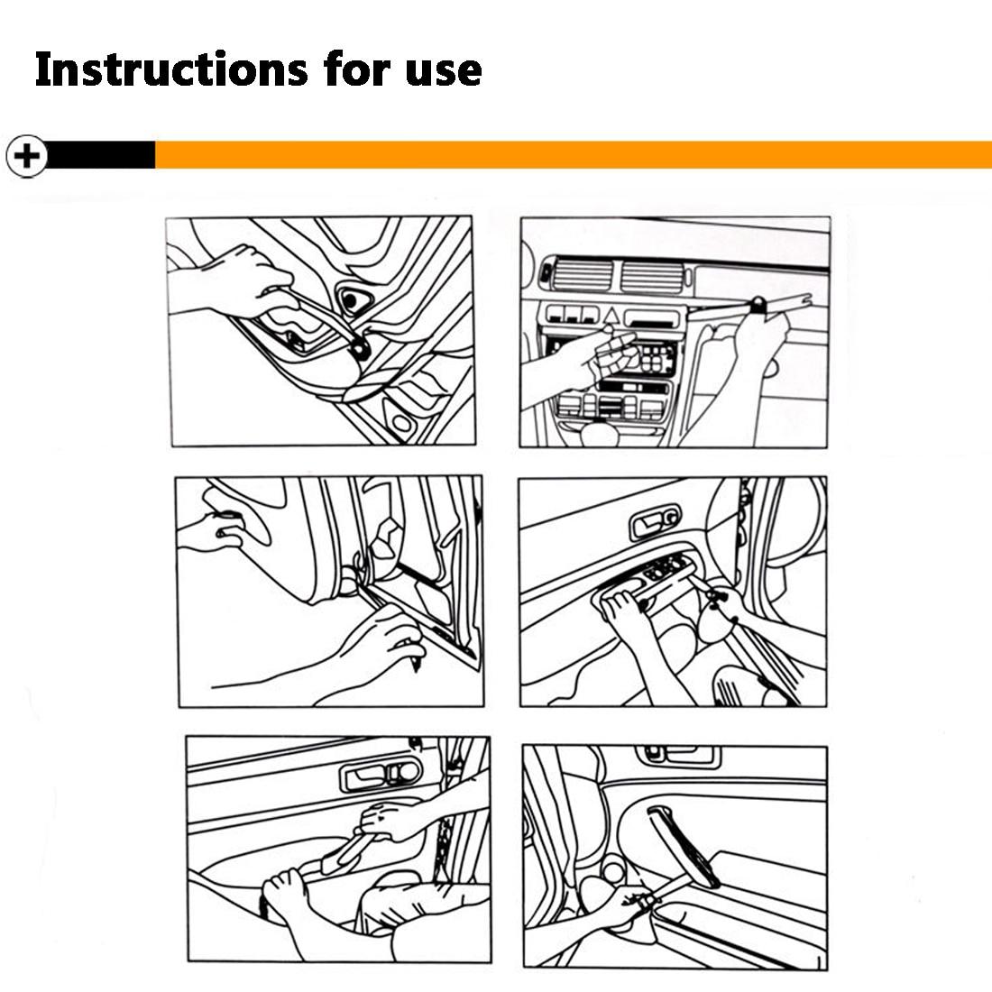 Купить с кэшбэком 4pcs Auto Car Radio Panel Door Clip Trim Dash Audio Removal Installer Pry Tool Disassembly Plastic Pry Tool Hand Repair Tool