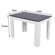 Black White Solid Wood Rectangle Table Nordic Minimalist Style Dining Table Dinner Bar Desk Kitchen Furniture Home Supplies HWC