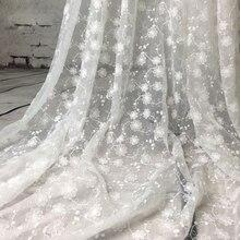 1 ярд Шантильи белая свадебная кружевная ткань белая слоновая кость французская вышивка кружевная ткань для кружевных аксессуаров свадебное платье одежда