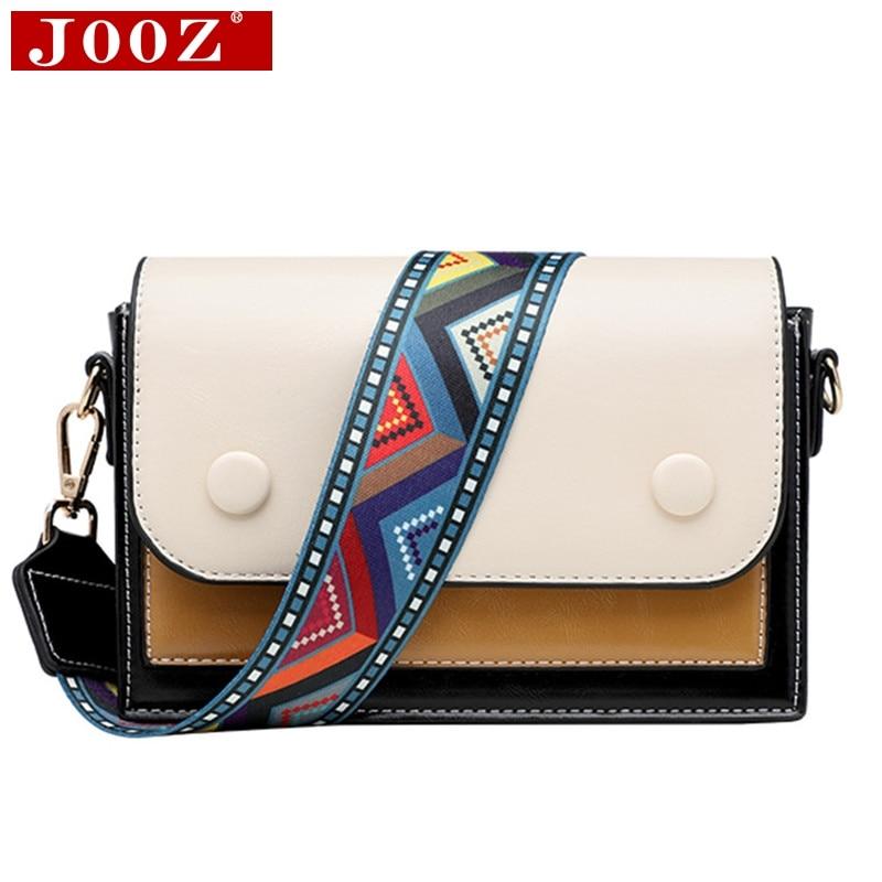 Bolsas de cuero de pu de alta calidad para mujeres 2019 empalme bolso de mensajero de hombro marcas de diseñador señoras bolso de cuerpo cruzado