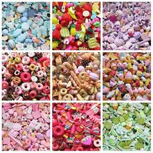 10pcs Cute Resin Candy Charms For Slime Filler DIY Cake Ornament Phone Decoration Resin Charms Lizun Slime Supplies Toys(China)