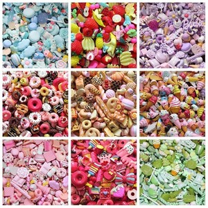8pcs Cute Resin Candy Charms For Slime Filler DIY Cake Ornament Phone Decoration Resin Charms Lizun Slime Supplies Toys(China)
