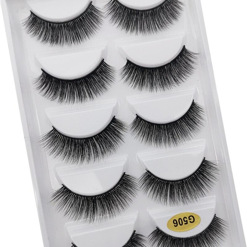 5 Pairs 3d Mink Eyelashes Dramatic Fluffy Lashes Thick Lashes Long Volume False Eyelashes Handmade Lashes Wispy Lash