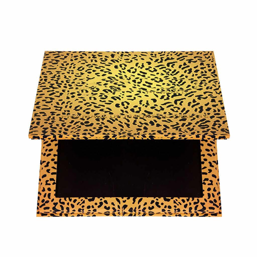 Leopard Empty Eyeshadow Magnetic Attraction Storage Box Mini Matte Glitter Shimmer Eye Shadow Platte Makeup Box #hy