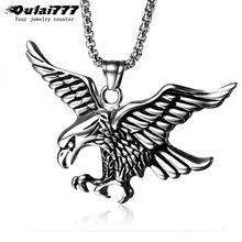 oulai777 2019 wholesale stainless steel feather men pendants necklaces women mens accessories male necklace chain Gold silver