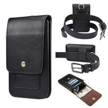 Universal bolsa de couro caso do telefone para o iphone 11 12 pro max xr x xs se 2020 cintura saco coldre cinto clipe capa para samsung xiaomi