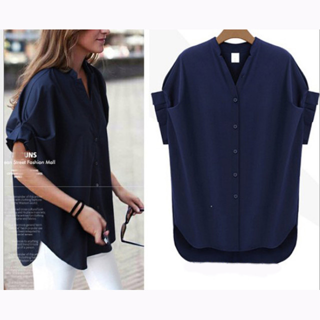 cuff sleeve v neck great top 1