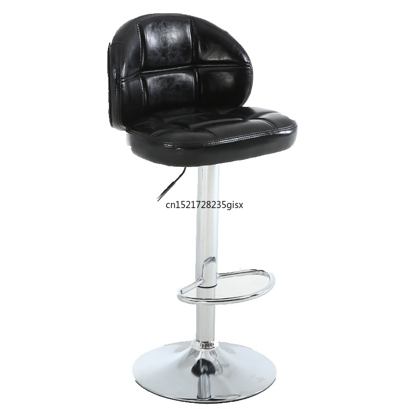 European Bar Stools Bar Chair Lift Chair Backrest High Stool Front Cashier Chair Nail Beauty Chair Bar Stool