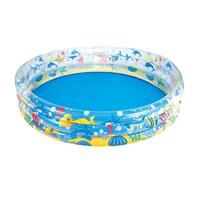 152*30cm Three ring Children's Paddling Pool Inflatable Swimming Pool Round Infant Bath Tub Sand Pool Ball Pool