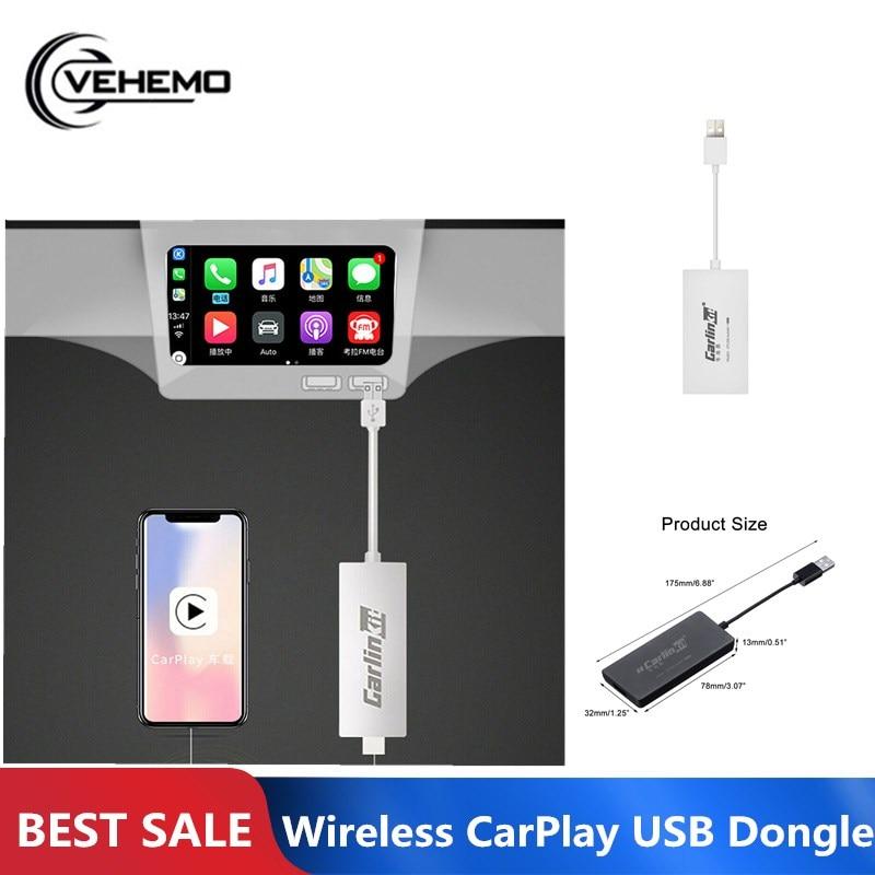 Carlinkit CarPlay Dongle Bluetooth pour Apple IOS Android Auto MP5 lecteur sans fil MINI USB noir prend en charge le lien intelligent