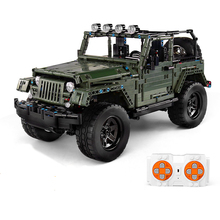 Building Blocks For Remote Control Car Jeep Off-road Vehicle Technic Diy Toy For Boys Children Bricks Toys Christmas Gifts