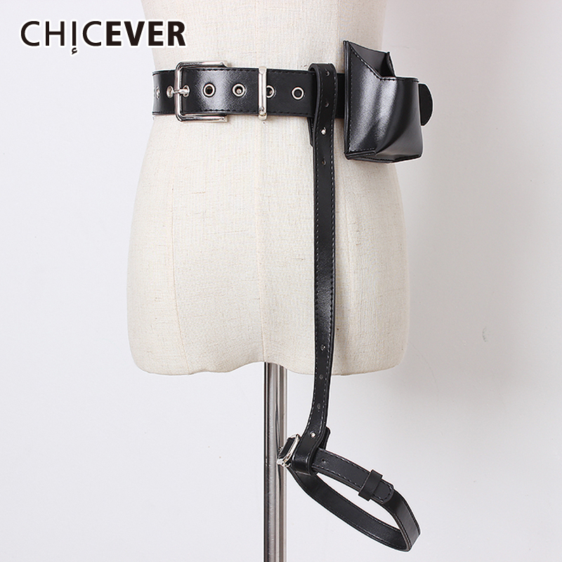 CHICEVER Summer Korean PU Leather Bag Patchwork Belts For Women Vintage Dresses Accessories Belt Female Fashion New 2019 Korean
