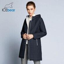 ICEbear 2019 秋長綿の女性のコートとフードファッション女性パッド入り秋のジャケットパーカー B17G292D