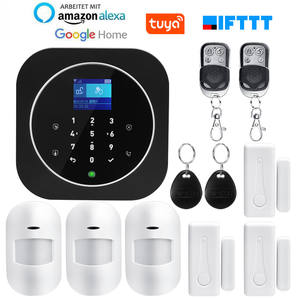 Wireless SIM GSM Home RFID Burglar Security LCD Touch Keyboard tuya WIFI GSM Alarm System