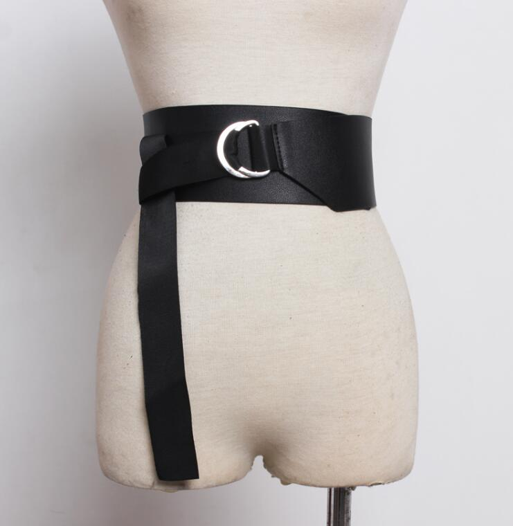 Women's Runway Fashion Pu Leather Cummerbunds Female Dress Coat Corsets Waistband Belts Decoration Wide Belt R1760