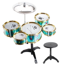 Musical Toys Instruments Classical Jazz Drum Set Children Stimulating Childrens Creativity Gift, Cyan