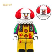 Stephen King's Pennywise LeGoeingly MIniFigured Beverly George Scelto Jacobs Disegno di Legge Mike Bambola Giocattolo Regalo di Natale Blocchi Giocattoli XP087(China)
