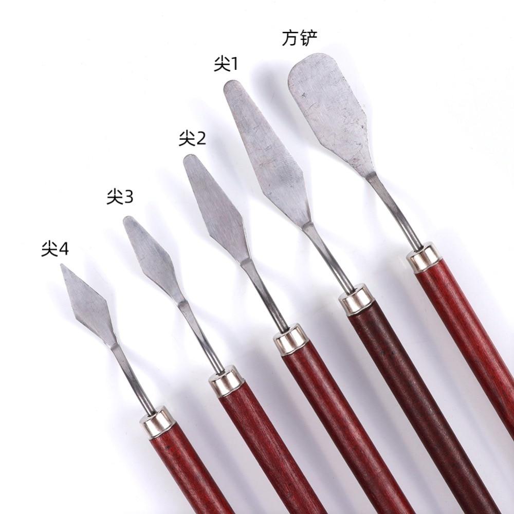 Spatula-Kit Painting-Tool-Set Palette Gouache-Supplies Flexible-Blades Fine-Arts Stainless-Steel