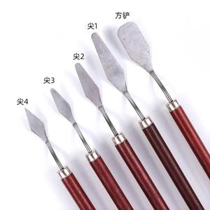Spatula-Kit Painting-Tool-Set Palette Gouache-Supplies Flexible-Blades Fine-Arts Stainless-Steel