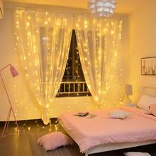 LED Curtain string lights USB Power Remote Control Curtain Fairy Lights Christmas Garland Lights LED String Lights Party Home(China)