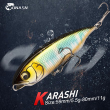 ONASN KARASHI Slow Sinking Pencil Fishing Lures 59mm 80mm Good Action Hard Baits Fishing tackle Crankbait Wobblers lure For Bass