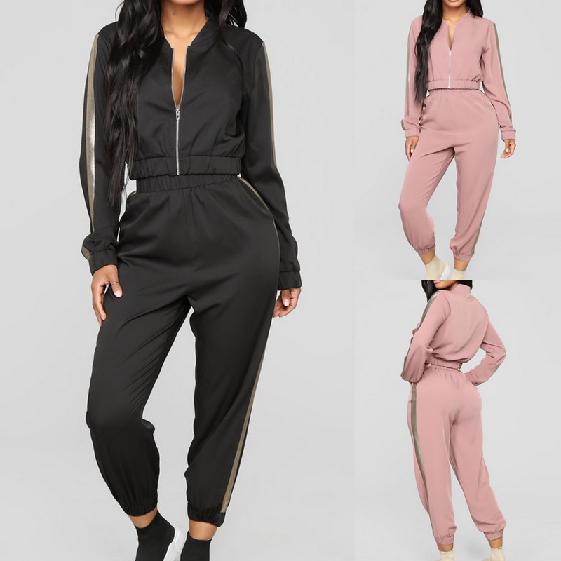 Autumn Running Sets Casual Hoodies Crop Top 2pcs Tracksuit Jogging Suits For Women Sweat Pants Jogger Suits Female Sportswear