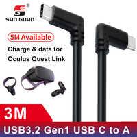 USB Typ C Kabel 10ft 3M Oculus Quest Link Kompatibel VR Geschwindigkeit Daten Transfer Schnelle Ladung USB 3,2 Typ -C mit USB C zu EINEM Adapter