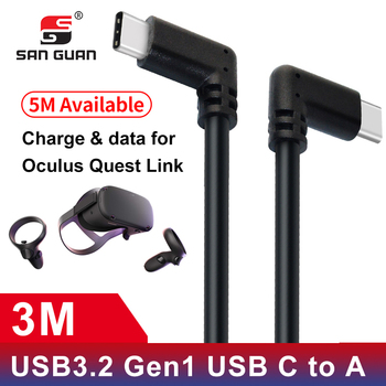 Rodzaj USB C kabel 10ft 3M 5M Oculus Quest Link kompatybilny VR transferu danych szybkie ładowanie USB 3 2 typu C z USB C do Adapter tanie i dobre opinie SANGUAN TYPE-C USB A 2 w 1 Black Powerful Data fast charge 5Gbps 1 year PVC or nylon braiding VR Oculus Quest link PC Macbook Chromebook Samsung Huawei etc usb c a