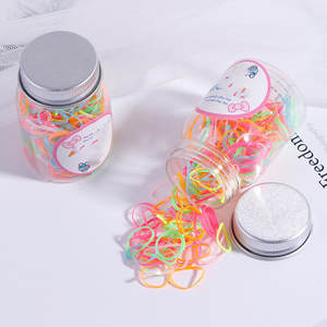 Ring Rope-Accessories Rubber-Band Scrunchie Disposable Baby-Color Fashion Children Canned