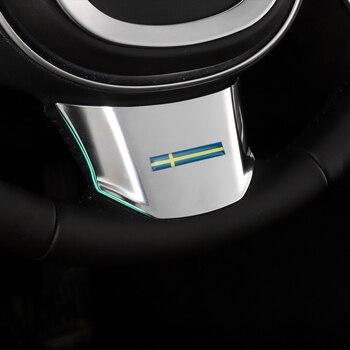 Для Volvo S90 XC90 декоративная рамка на руль xc60 v90 специальные наклейки на интерьер из АБС-пластика 2018 2019 2020 автомобильные аксессуары