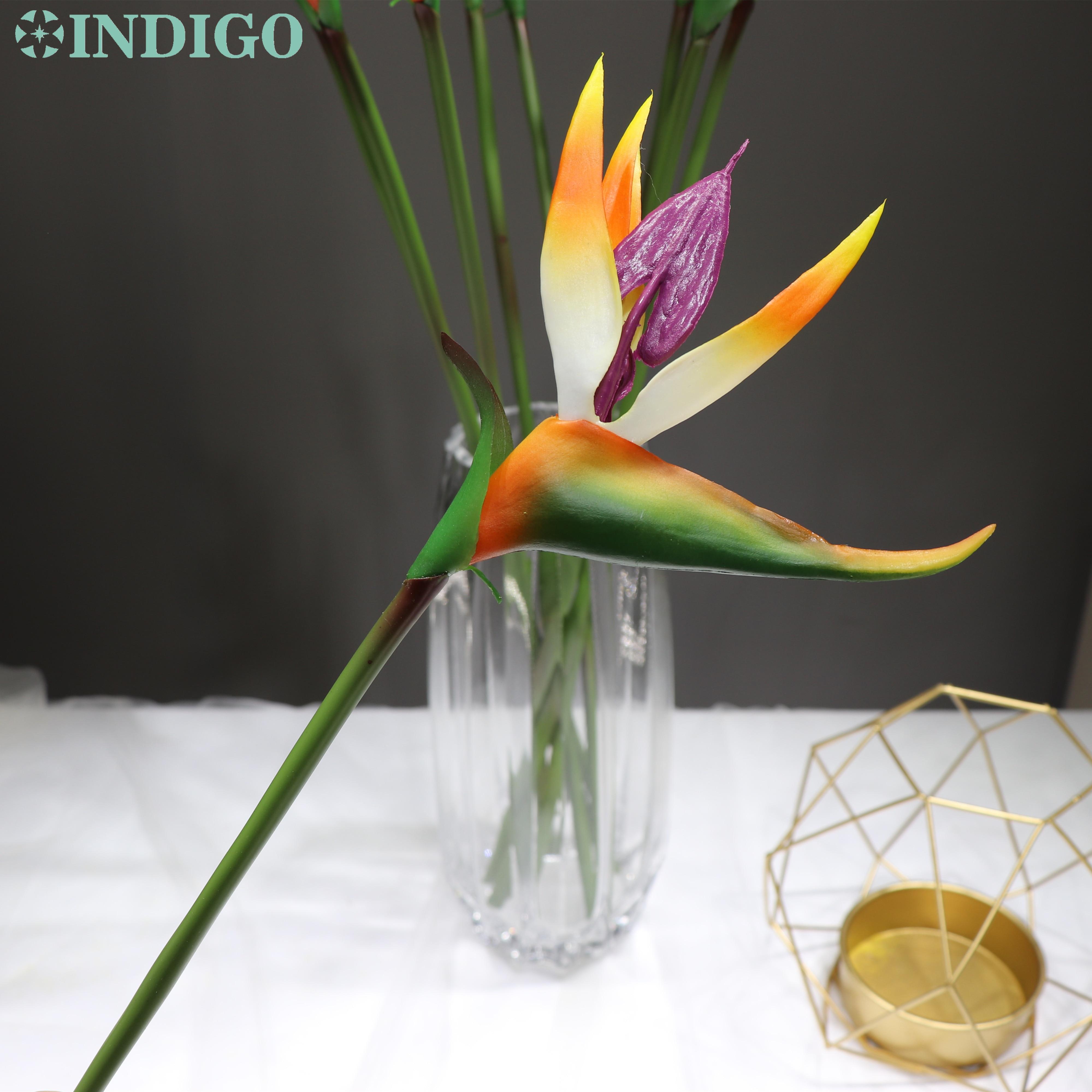Indigo Single Flower 3 Sizes Bird Of Paradise Plastic Artificial