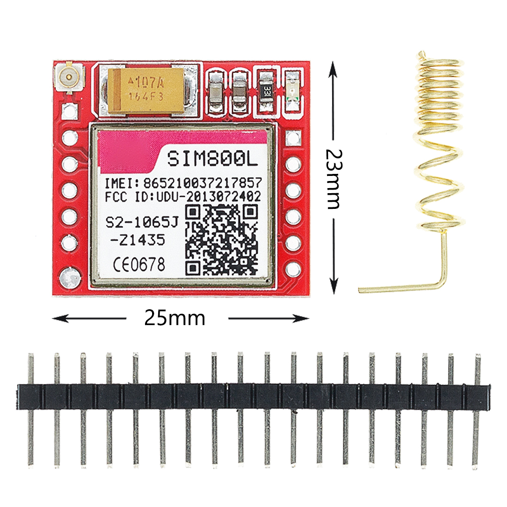 10 pçs/lote menor sim800l gprs gsm módulo placa de núcleo cartão microsim quad-band ttl porta serial c52 sim800