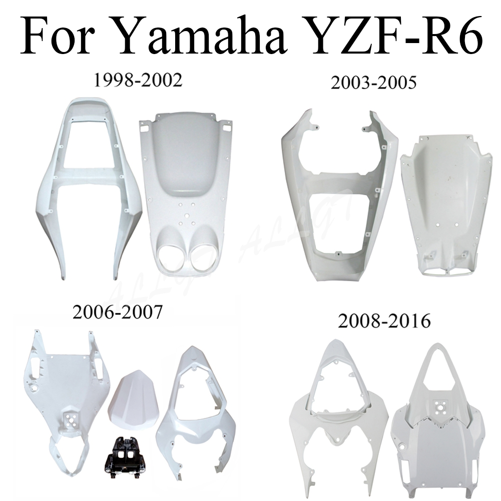 Unpainted Rear Tail ABS <font><b>Fairing</b></font> For <font><b>Yamaha</b></font> YZF-R6 1998-2016 1999-2004 2005 2006 2007 <font><b>2008</b></font> 2009 2010 2011 2012 2013 2014 2015 image