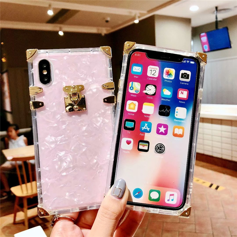 Hed7cc6cac62c4fc2be3cdb2a19d360fea - Luxury Square Clear TPU Case For iPhone 11 Pro Max Soft Silicone Bling Phone Cover For iPhone X XS Max XR For iPhone 6 7 8 Plus
