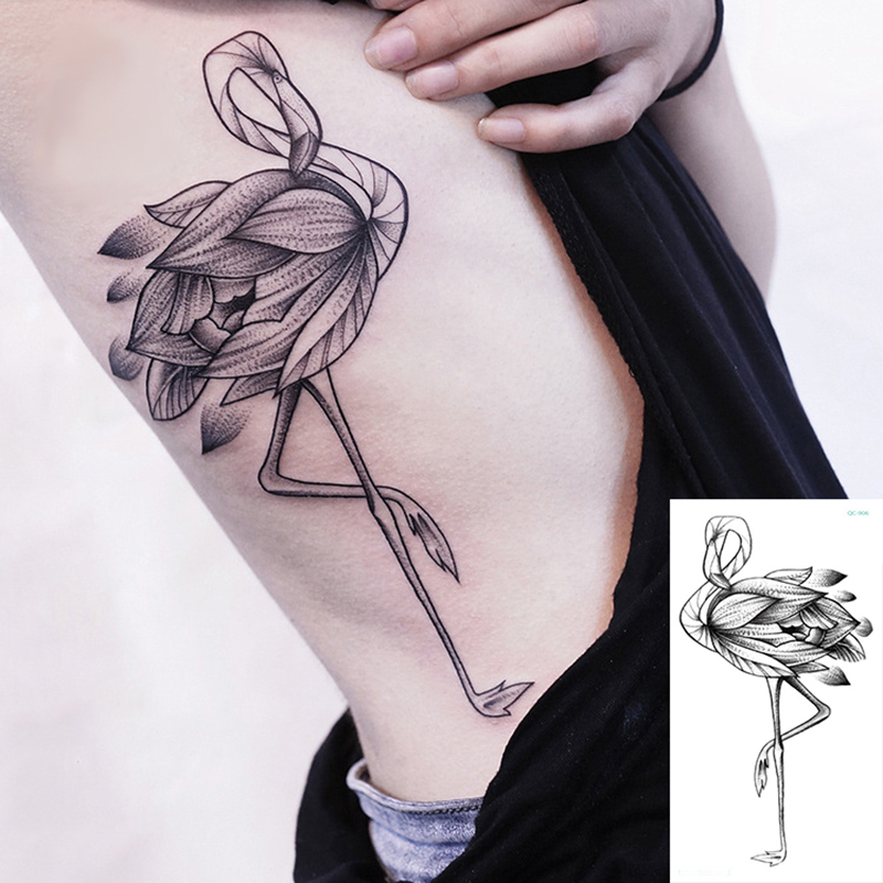 Temporary Tattoos Sticker Black Rose Flower Bird Surprise Price Body Art Painting Sleeves For Men Women Waterproof Fake Tattoo