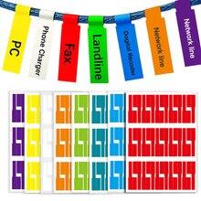 150 pces colorido cabo etiqueta a4 impermeável auto-adesivo etiqueta de identificação etiquetas marcação ferramentas fibra óptica finalizador