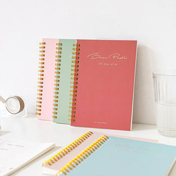 120 Pages B6 Notebook Travel Diary Creative Horizontal Line Grid Coil Book Notepad Student School Office Supplies creative stationery elegant flower chinese wind diary horizontal line small travel planner diary book notebook dd1358